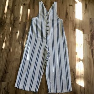 Urban Outfitters Striped Gauzy Jumpsuit, Sz M